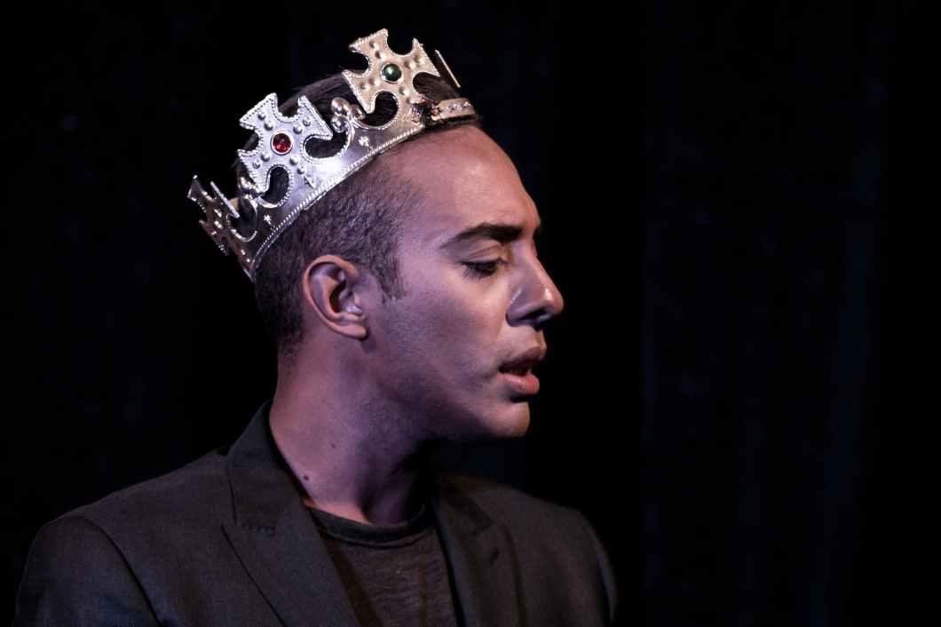 man wearing crown