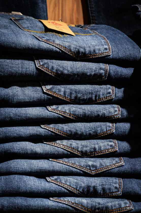 blue jeans clothes shopping