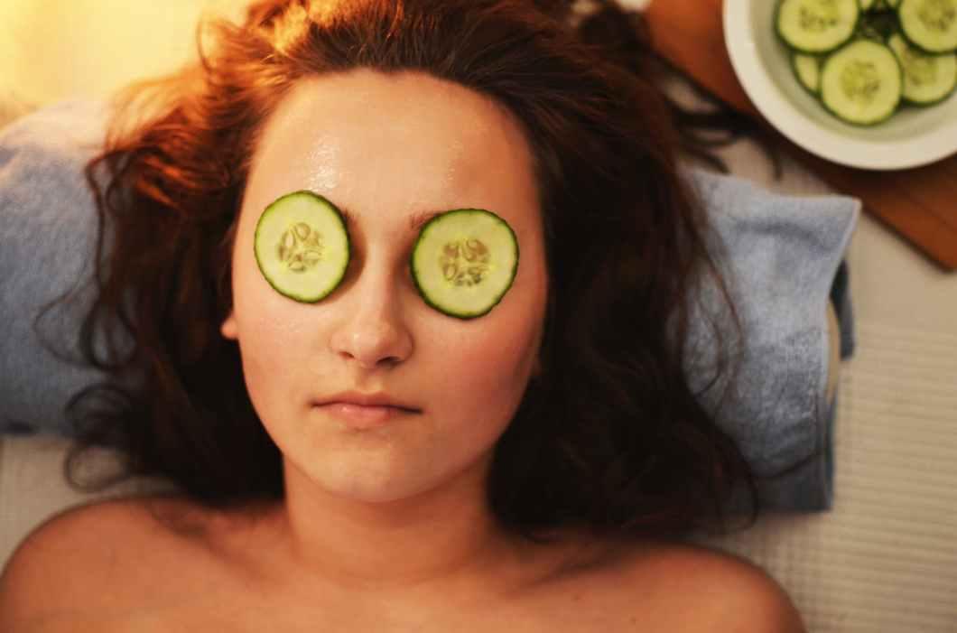 woman girl beauty mask