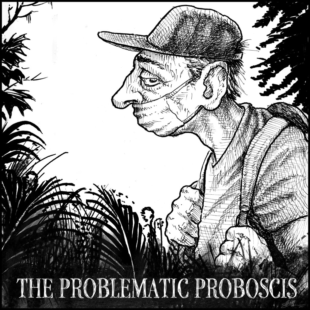 Hiking Trail Masking Fails panel 5 - The Problematic Proboscis