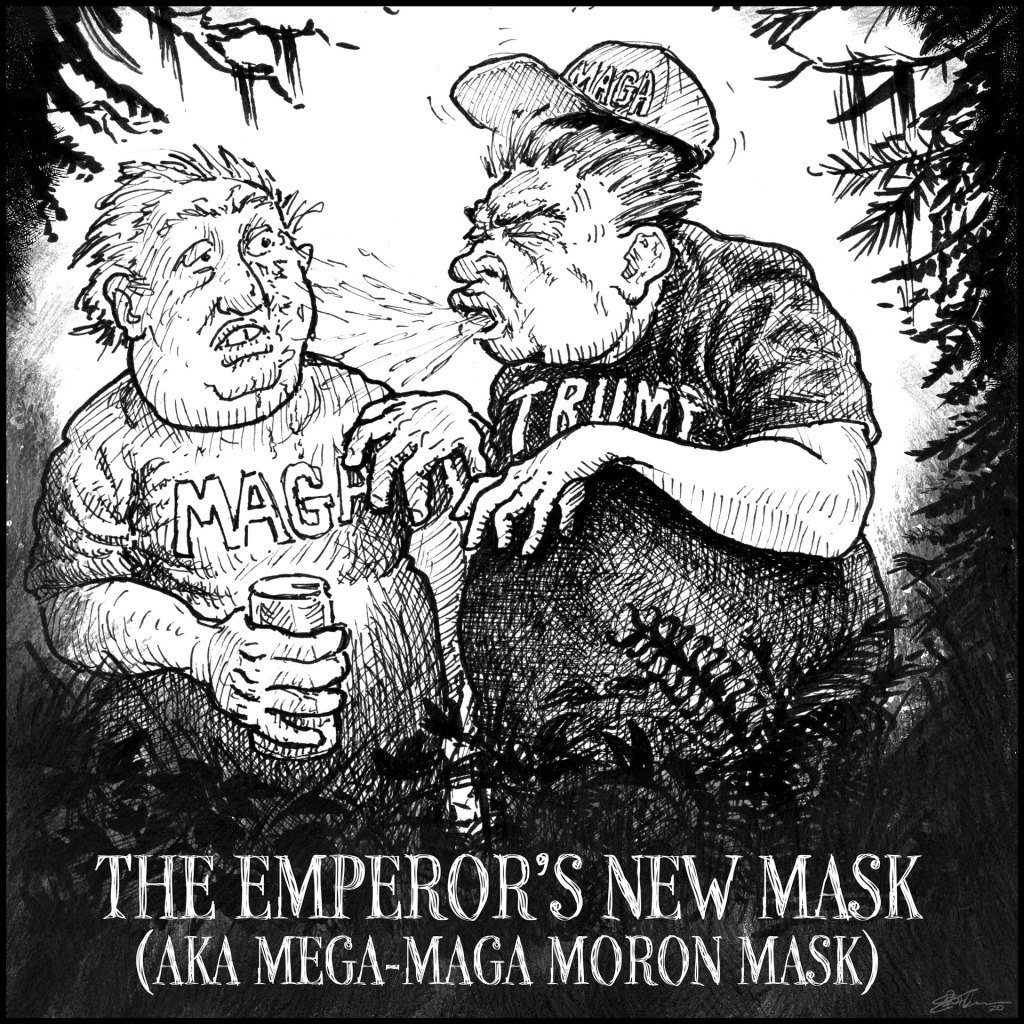 Hiking Trail Masking Fails panel 6 - The Emperor's New Mask